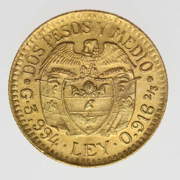 kolumbien - Kolumbien 2 1/2 Pesos 1924
