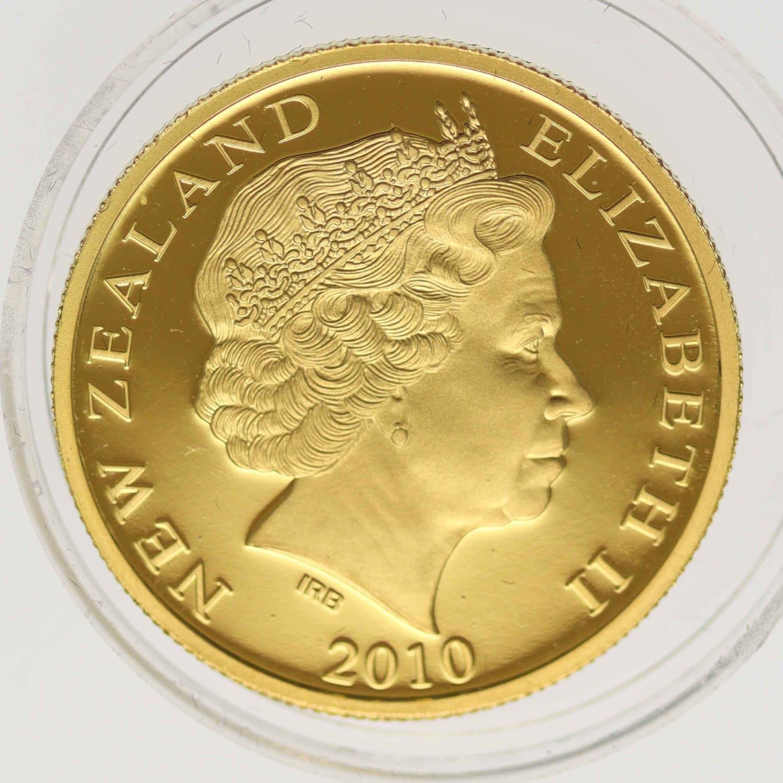 neuseeland - Neuseeland Elisabeth II. 10 Dollars 2010 1/4 OZ Kiwi
