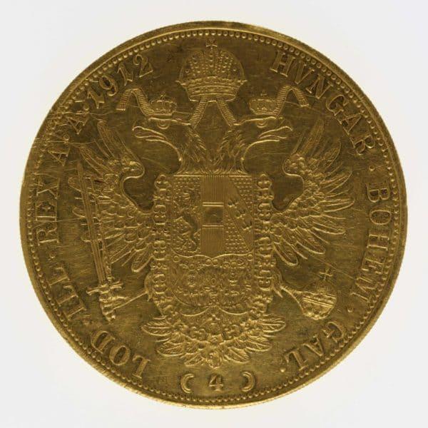 oesterreich - Österreich Kaiserreich Franz Joseph I. 4 Dukaten 1912