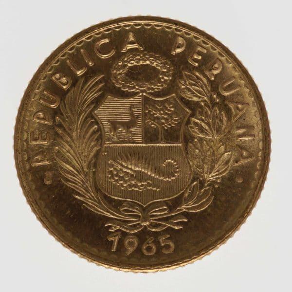 peru - Peru 10 Soles 1965
