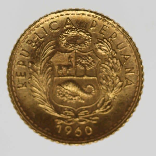 peru - Peru 5 Soles 1960
