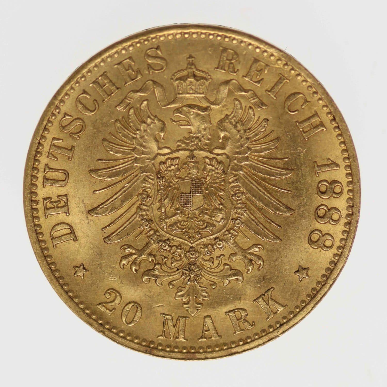 deutsches-kaiserreich-ab-1871 - Preussen Friedrich III. 20 Mark1888