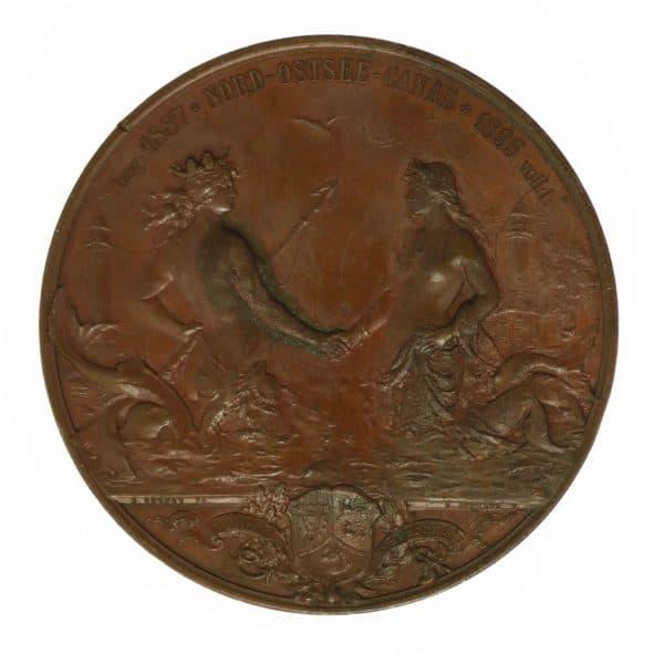 altdeutschland-deutsche-silbermuenzen - Preussen Wilhelm II. Bronzemedaille 1895