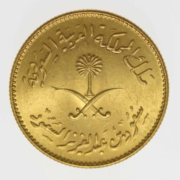 saudi-arabien - Saudi Arabien Saud ibn 'Abd al-Aziz Pfund 1957