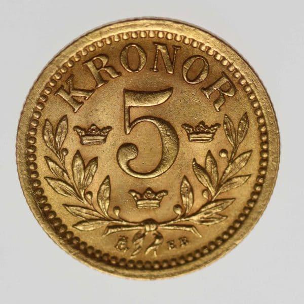 schweden - Schweden Oskar II. 5 Kronen 1901
