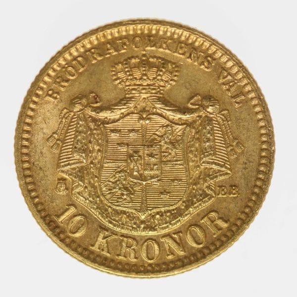 schweden - Schweden Oskar II. 10 Kronen 1883