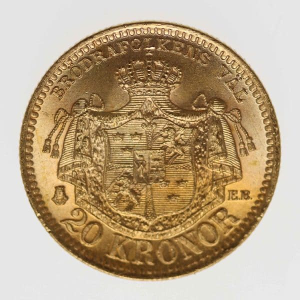 schweden - Schweden Oskar II. 20 Kronen 1889 EB