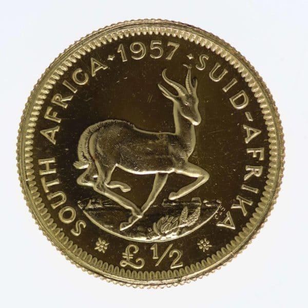 suedafrika - Südafrika Elisabeth II. Half Pound 1957