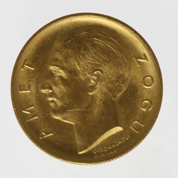 albanien - Albanien Amet Zogu I. 10 Franga 1927
