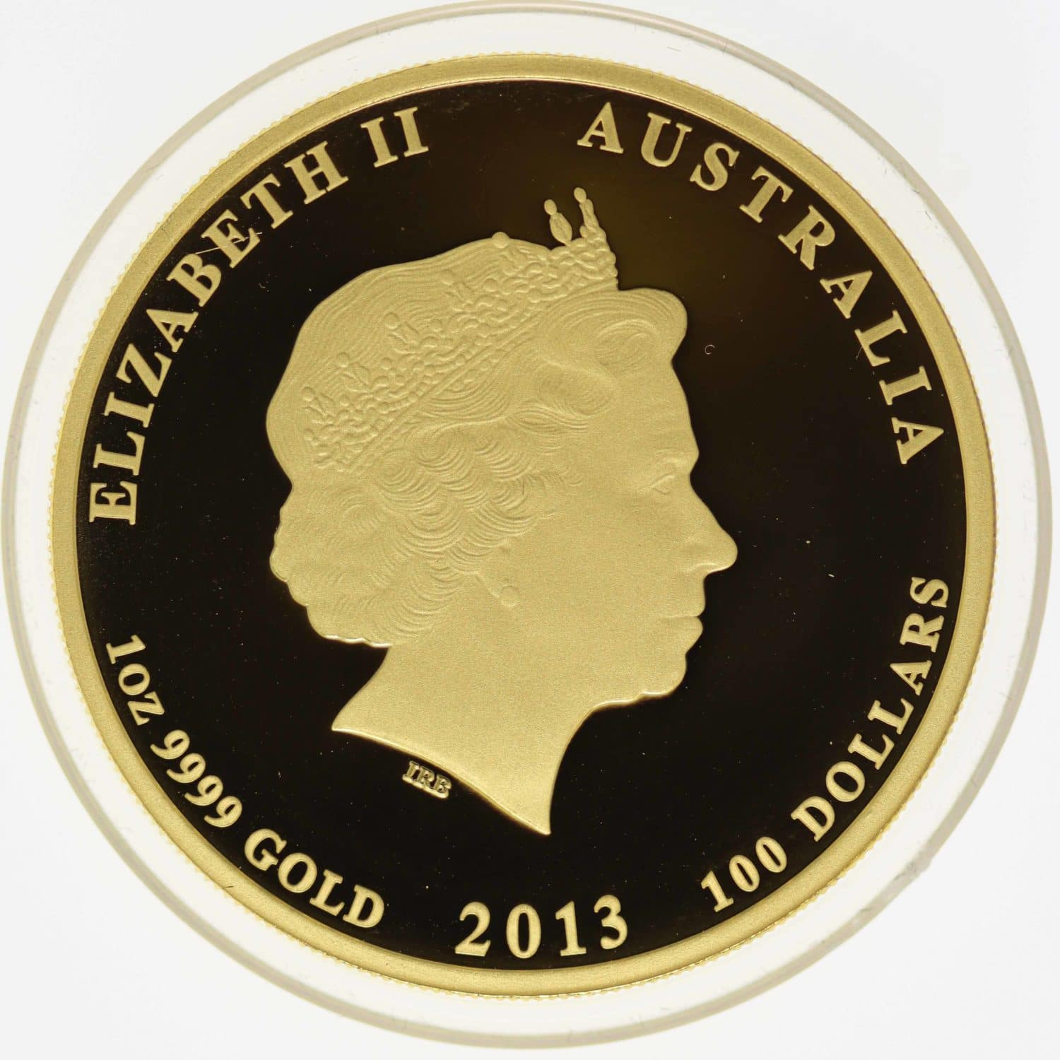 australien - Australien Elisabeth II. 100 Dollars 2013 Lunar II Year of the Snake coloriert