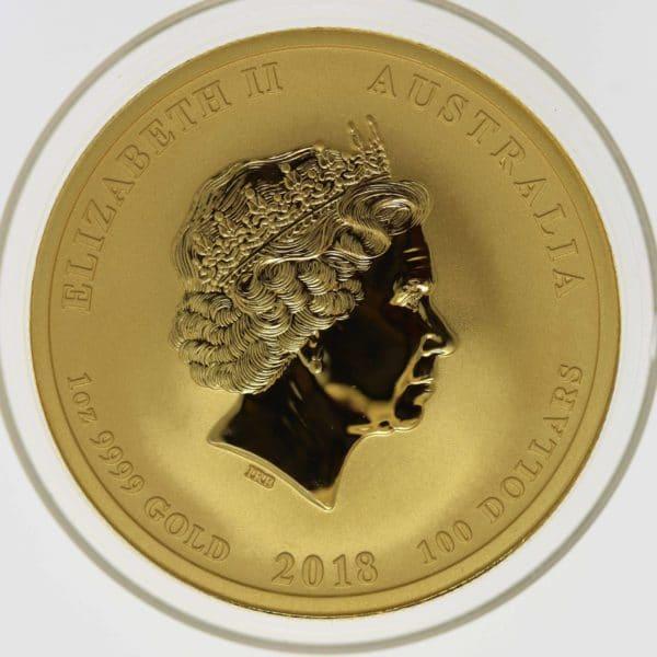 australien - Australien Elisabeth II. 100 Dollars 2018 1 OZ Drache & Phönix