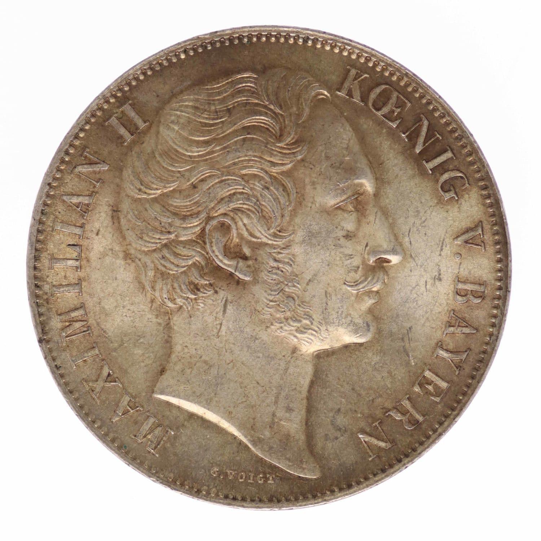 altdeutschland-deutsche-silbermuenzen - Bayern Maximilian II. Doppelgulden 1856