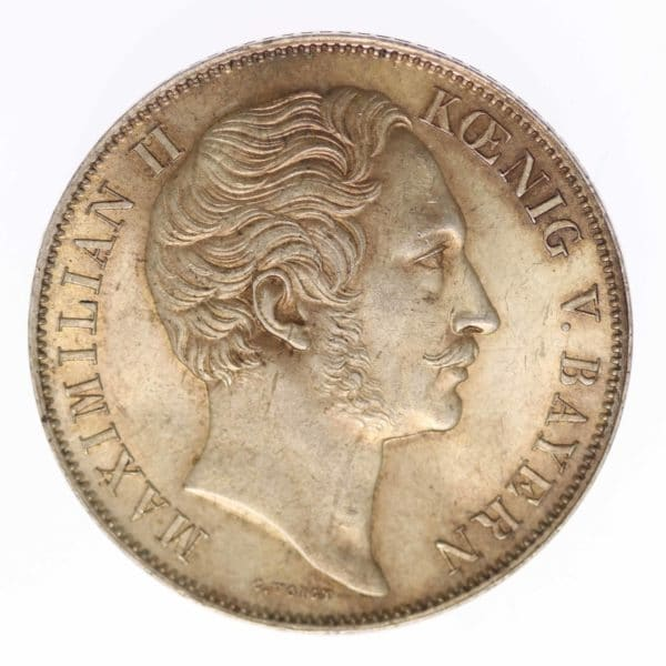 altdeutschland-deutsche-silbermuenzen - Bayern Maximilian II. Joseph Doppelgulden 1856