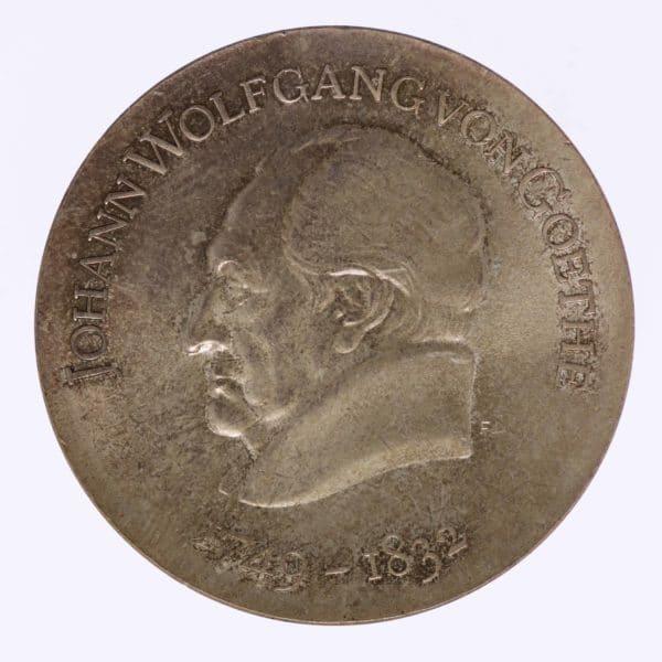 ddr-deutsche-silbermuenzen - DDR 20 Mark 1969 Goethe