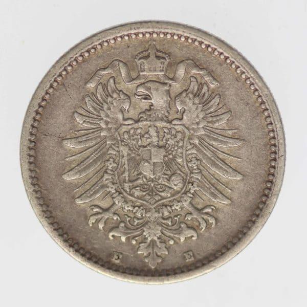 deutsches-kaiserreich-ab-1871-deutsche-silbermuenzen - 50 Pfennig 1875 E