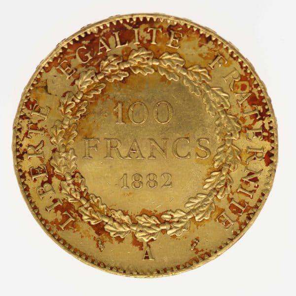 frankreich - Frankreich 100 Francs 1882 A