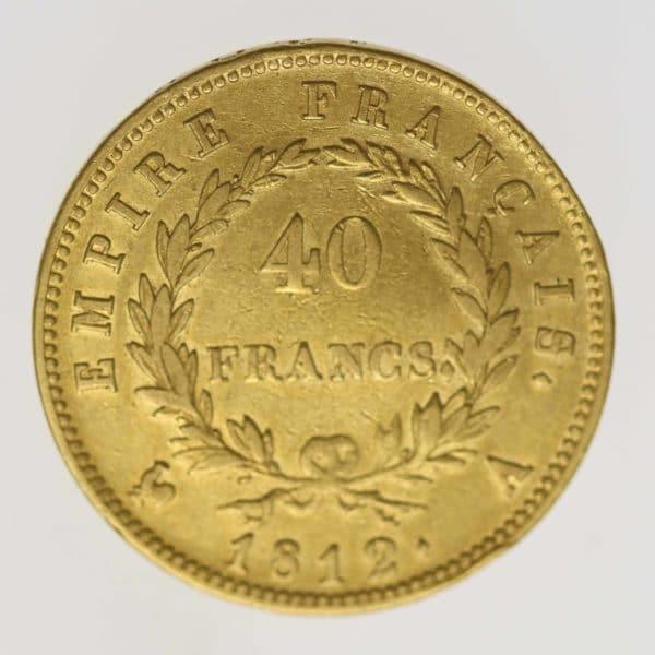 frankreich - Frankreich Napoleon I. 40 Francs 1812 A