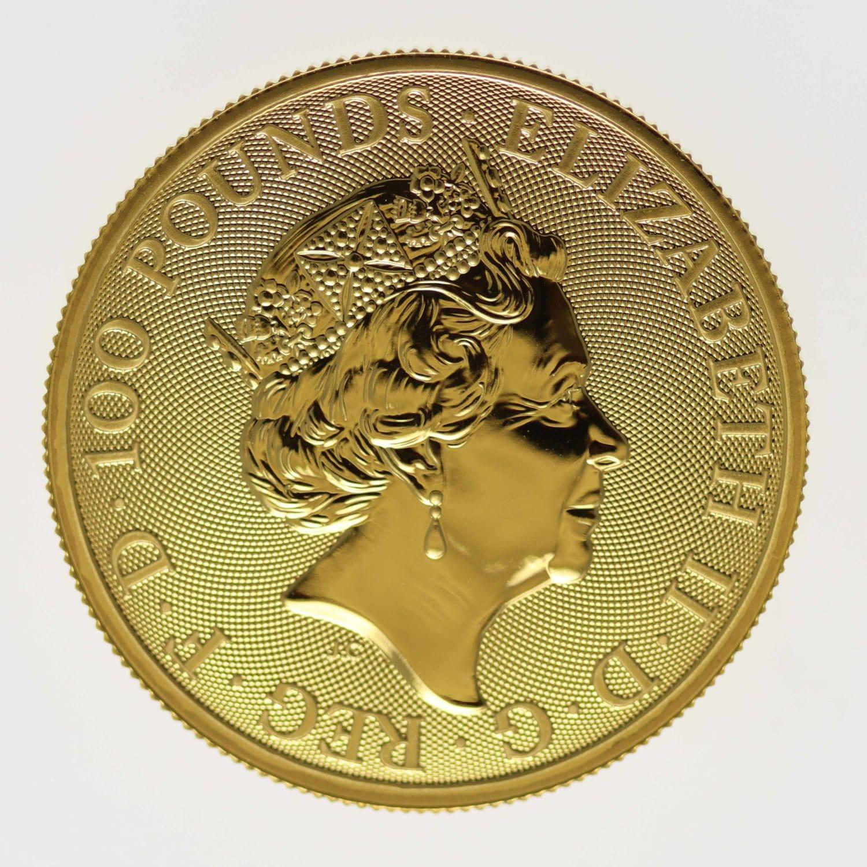 grossbritannien - Großbritannien Elisabeth II. 100 Pounds 2018 Two Dragons
