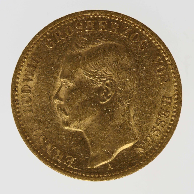 deutsches-kaiserreich-ab-1871 - Hessen Ernst Ludwig 20 Mark 1903