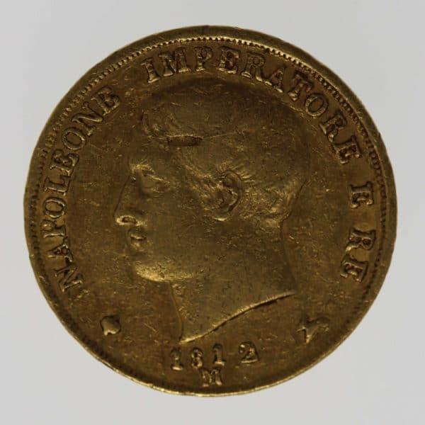 italien - Italien Napoleon I. 20 Lire 1812 M