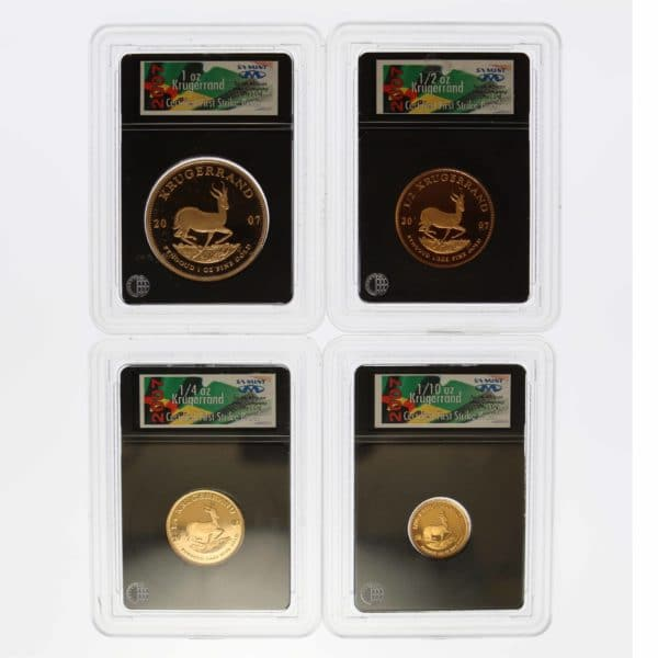 suedafrika - Südafrika Krügerrand 4 Coin First Strike Proof Set 2007