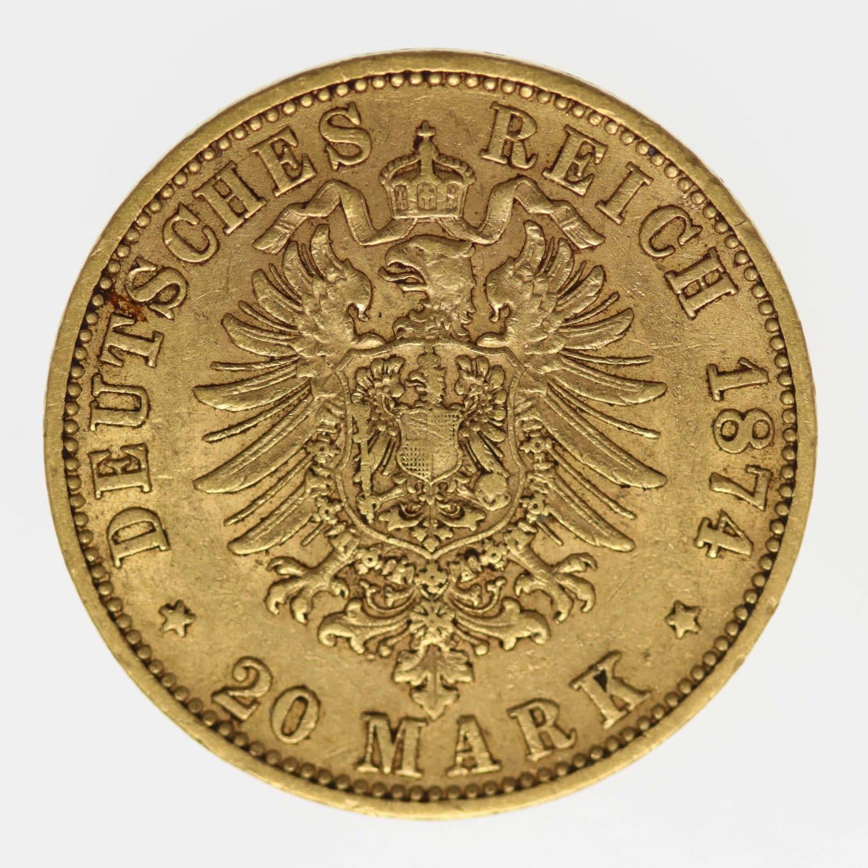 deutsches-kaiserreich-ab-1871 - Preussen Wilhelm I. 20 Mark 1874 C