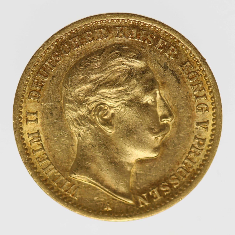 deutsches-kaiserreich-ab-1871 - Preussen Wilhelm II. 10 Mark 1909 A