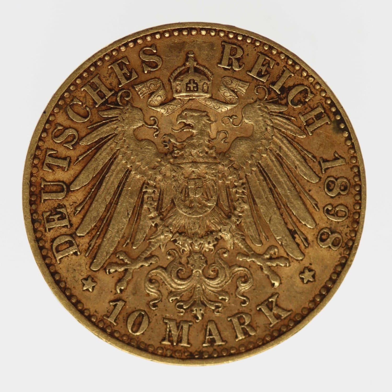 deutsches-kaiserreich-ab-1871 - Sachsen Albert 10 Mark 1898