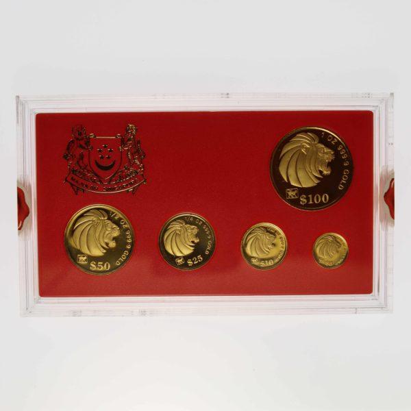 singapur - Singapur 5 Coin Proof Set 1992 Löwe