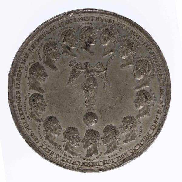 unkategorisiert - Habsburg Franz I. Zinnmedaille auf die Friedensschlüsse und den Wiener Kongress 1814