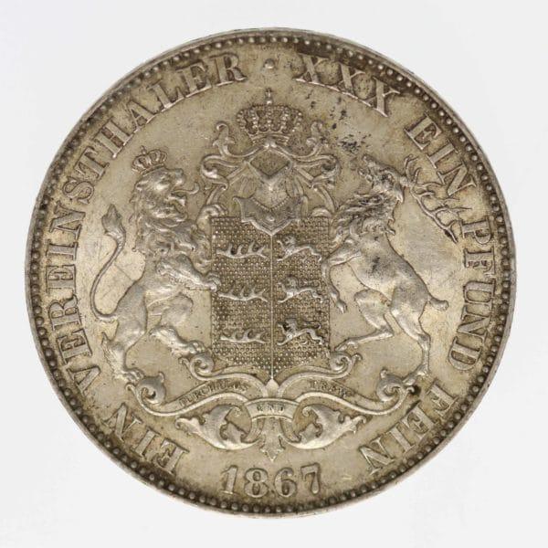 altdeutschland-deutsche-silbermuenzen - Württemberg Karl Vereinstaler 1867