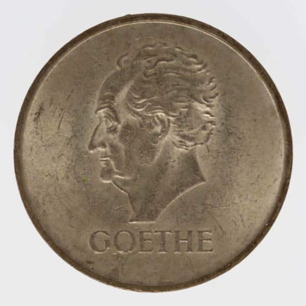 weimarer-republik-deutsche-silbermuenzen - Weimarer Republik 3 Reichsmark 1932 A Goethe