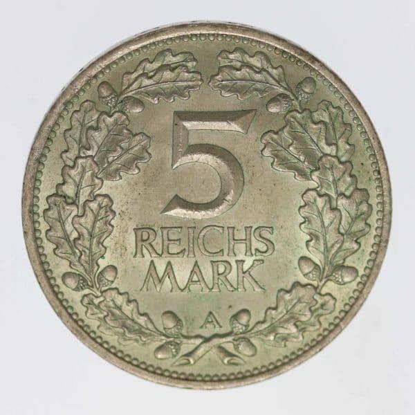 weimarer-republik-deutsche-silbermuenzen - Weimarer Republik 5 Reichsmark 1925 Rheinlande