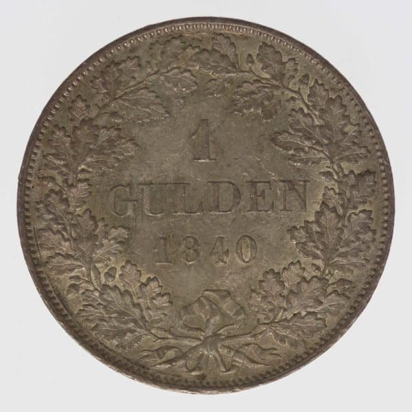 altdeutschland-deutsche-silbermuenzen - Bayern Ludwig I. 1 Gulden 1840