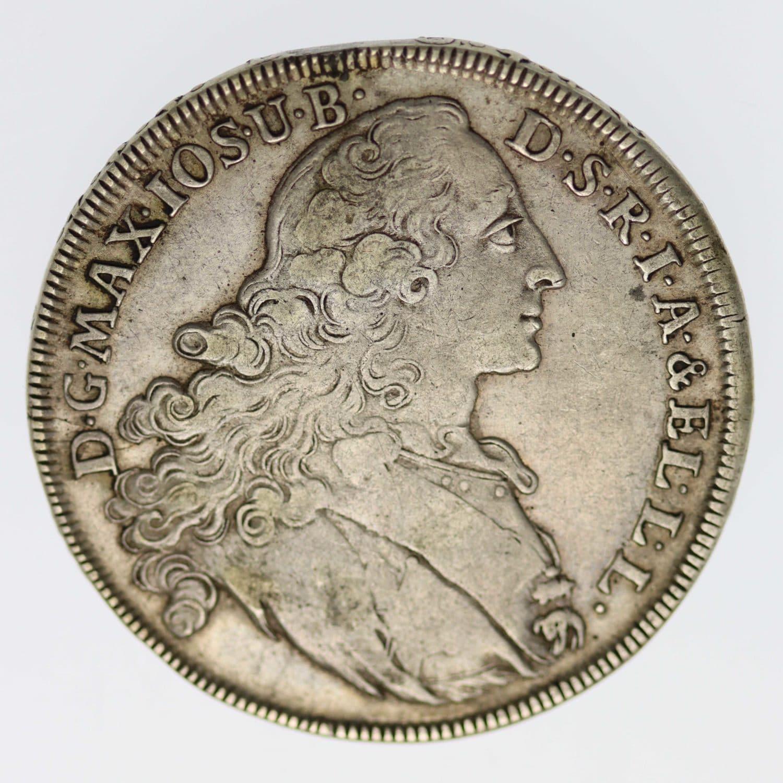 altdeutschland-deutsche-silbermuenzen - Bayern Maximilian III. Joseph Taler 1768
