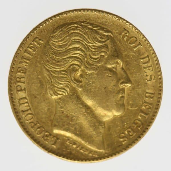 belgien - Belgien Leopold I. 20 Francs 1865