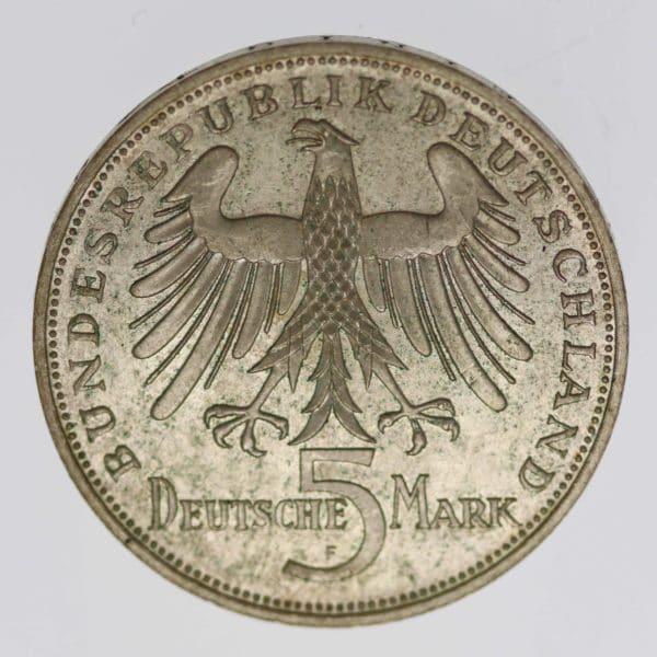 brd-deutsche-silbermuenzen - BRD 5 Mark 1955 von Schiller