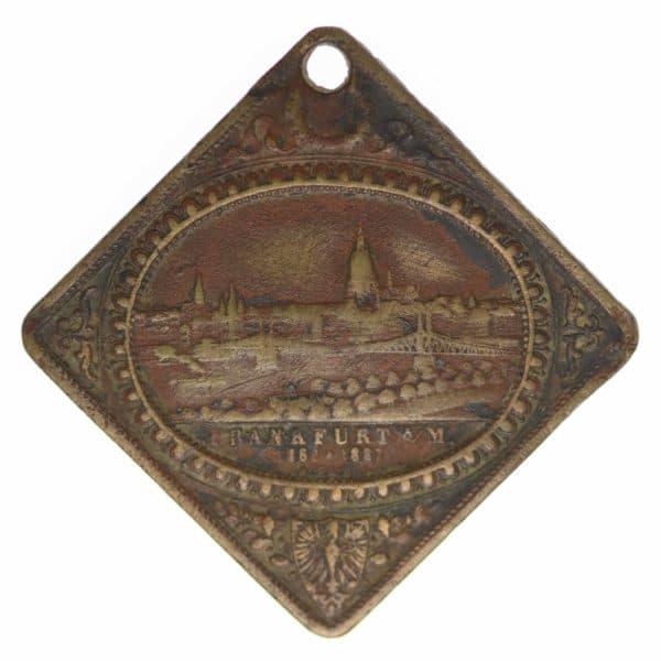 altdeutschland-deutsche-silbermuenzen - Frankfurt Bronzemedaille 1887