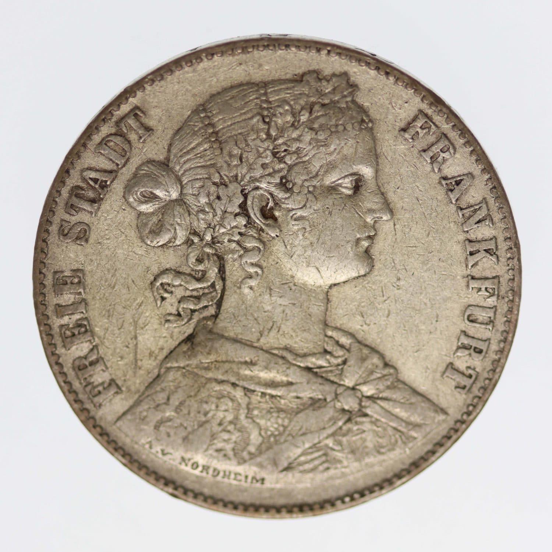 altdeutschland-deutsche-silbermuenzen - Frankfurt Stadt Vereinstaler 1860