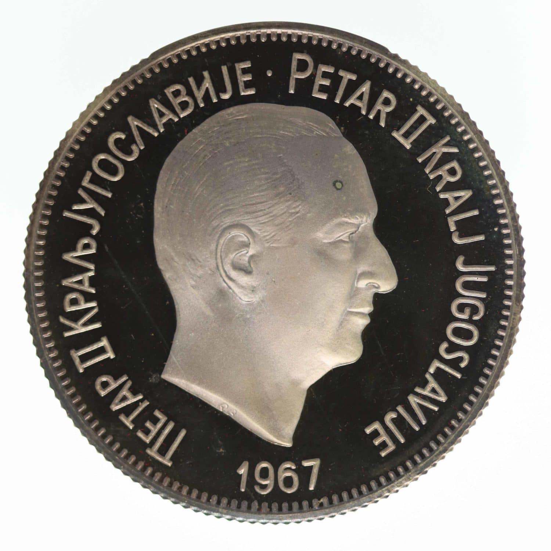 jugoslawien-silbermuenzen-uebriges-europa - Jugoslawien Set 2x Silbermedaille 1967