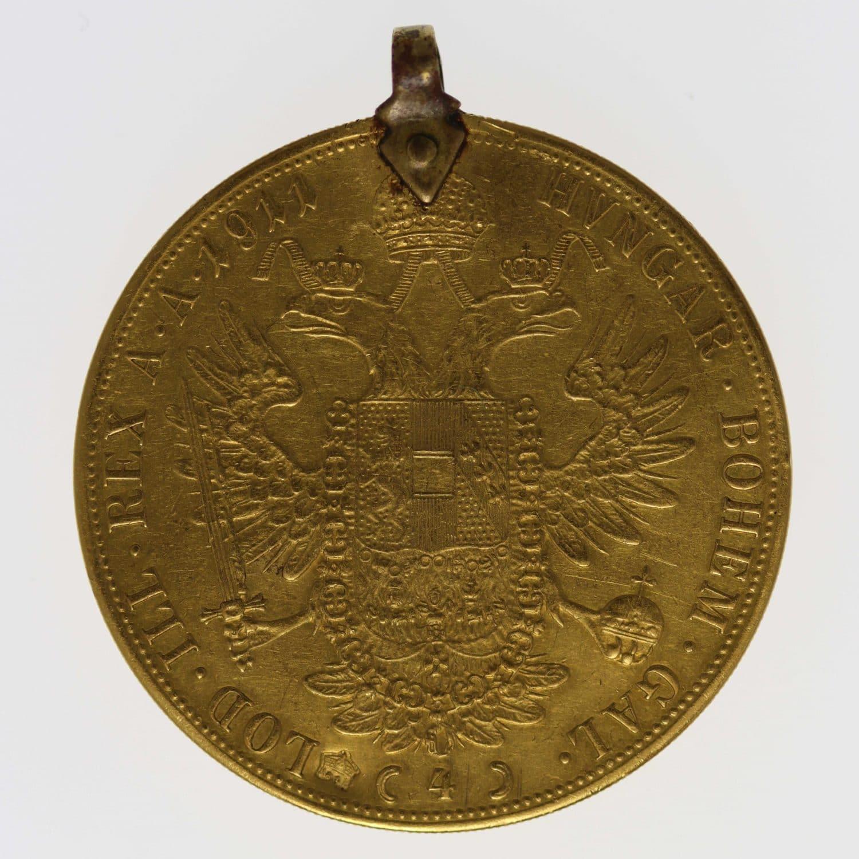 oesterreich - Österreich Kaiserreich Franz Joseph I. 4 Dukaten 1911