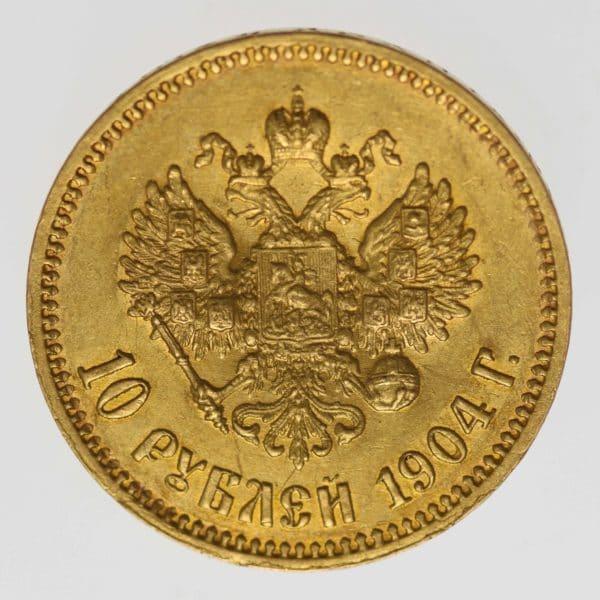 russland - RusslandNikolaus II. 10 Rubel 1904