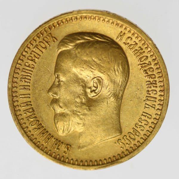 russland - RusslandNikolaus II.7,5 Rubel 1897