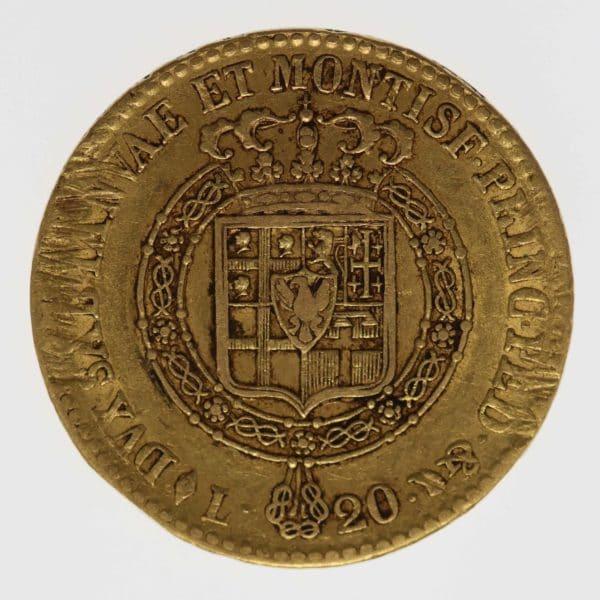 italien - Italien Vittorio Emanuele I. 20 Lire 1820