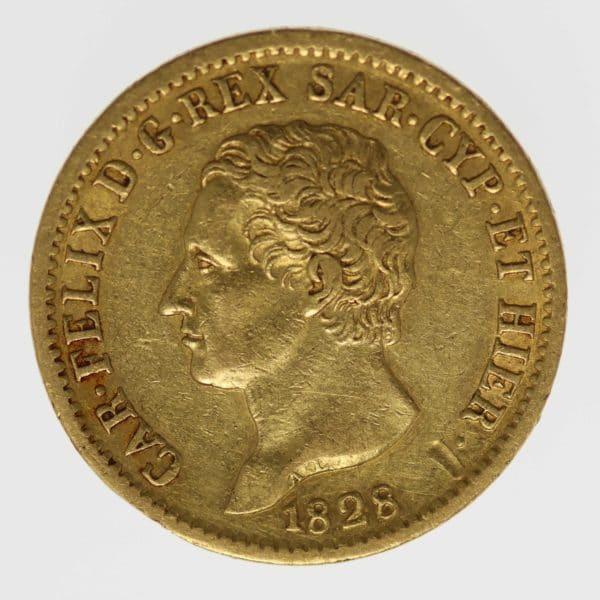 italien - Italien Sardinien Karl Felix 20 Lire 1828