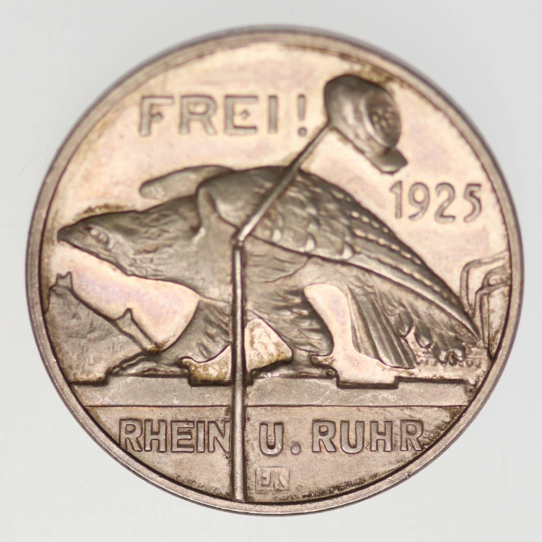 weimarer-republik-deutsche-silbermuenzen - Weimarer Republik Silbermedaille 1925