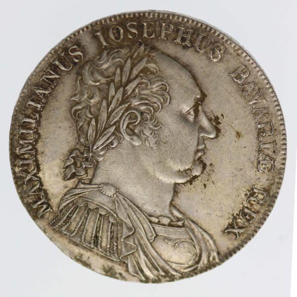 altdeutschland-deutsche-silbermuenzen - Bayern Maximilian I. Joseph Taler 1818