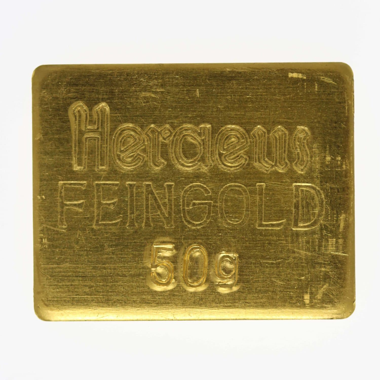 goldbarren - Goldbarren 50 GrammHeraeus