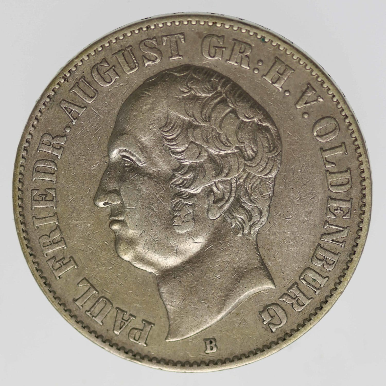 altdeutschland-deutsche-silbermuenzen - Oldenburg Paul Friedrich August Vereinstaler 1846 B