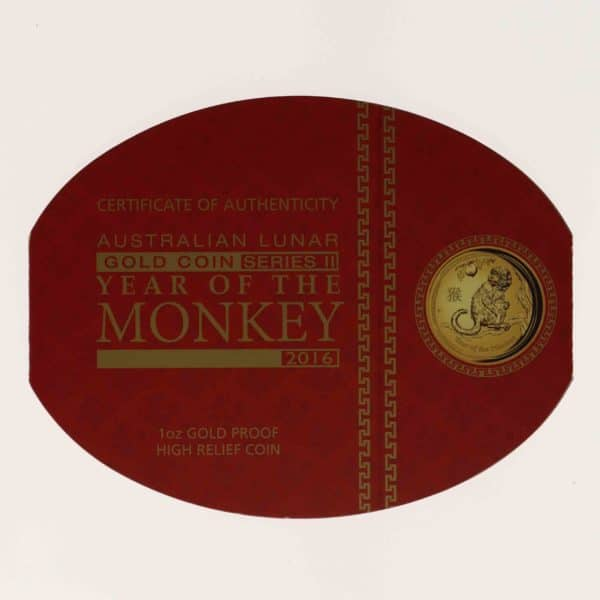 australien - Australien Elisabeth II. 100 Dollars 2016 Lunar II Year of the Monkey